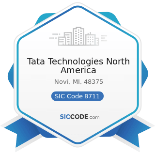 Tata Technologies North America - SIC Code 8711 - Engineering Services