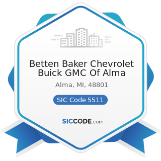 Betten Baker Chevrolet Buick GMC Of Alma - SIC Code 5511 - Motor Vehicle Dealers (New and Used)