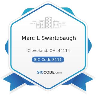 Marc L Swartzbaugh - SIC Code 8111 - Legal Services