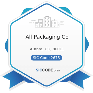 All Packaging Co - SIC Code 2675 - Die-Cut Paper and Paperboard and Cardboard