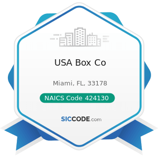 USA Box Co - NAICS Code 424130 - Industrial and Personal Service Paper Merchant Wholesalers