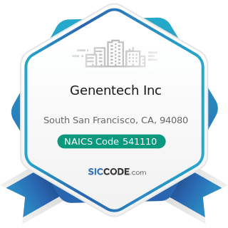 Genentech Inc - NAICS Code 541110 - Offices of Lawyers