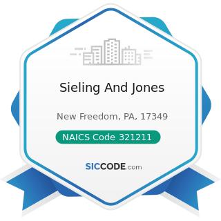 Sieling And Jones - NAICS Code 321211 - Hardwood Veneer and Plywood Manufacturing