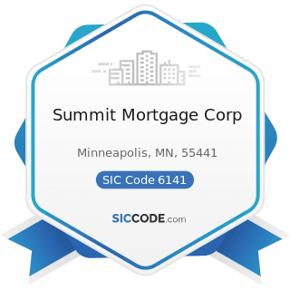 Summit Mortgage Corp - SIC Code 6141 - Personal Credit Institutions