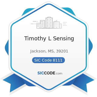 Timothy L Sensing - SIC Code 8111 - Legal Services