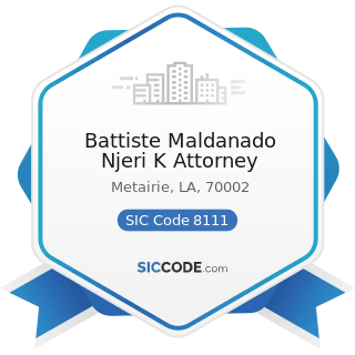 Battiste Maldanado Njeri K Attorney - SIC Code 8111 - Legal Services