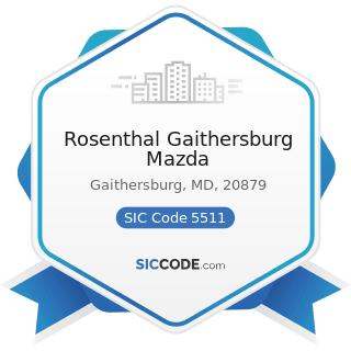 Rosenthal Gaithersburg Mazda - SIC Code 5511 - Motor Vehicle Dealers (New and Used)