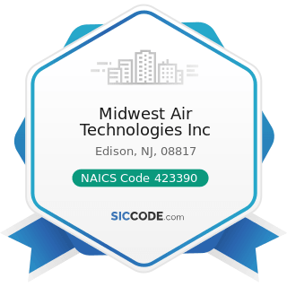 Midwest Air Technologies Inc - NAICS Code 423390 - Other Construction Material Merchant...