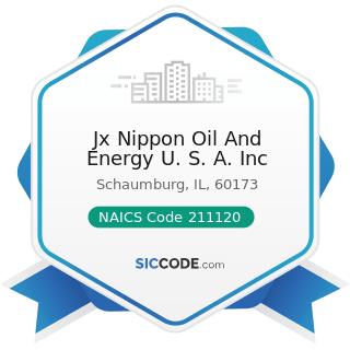 Jx Nippon Oil And Energy U. S. A. Inc - NAICS Code 211120 - Crude Petroleum Extraction