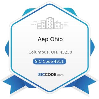 Aep Ohio - SIC Code 4911 - Electric Services