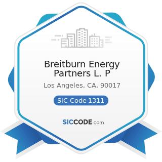 Breitburn Energy Partners L. P - SIC Code 1311 - Crude Petroleum and Natural Gas