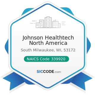 Johnson Healthtech North America - NAICS Code 339920 - Sporting and Athletic Goods Manufacturing