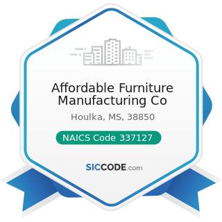Affordable Furniture Manufacturing Co - NAICS Code 337127 - Institutional Furniture Manufacturing