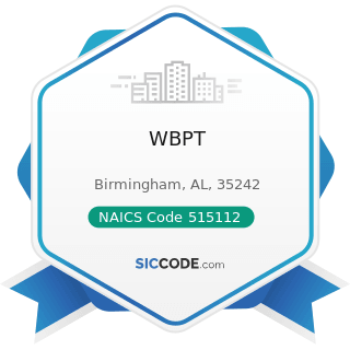 WBPT - NAICS Code 515112 - Radio Stations
