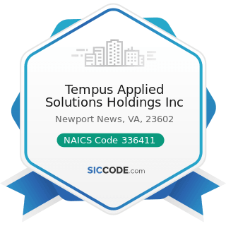 Tempus Applied Solutions Holdings Inc - NAICS Code 336411 - Aircraft Manufacturing