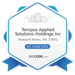 Tempus Applied Solutions Holdings Inc - SIC Code 3721 - Aircraft