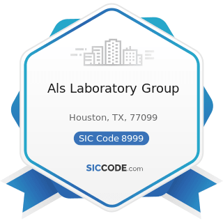 Als Laboratory Group - SIC Code 8999 - Services, Not Elsewhere Classified