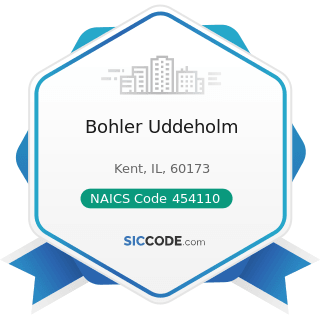 Bohler Uddeholm - NAICS Code 454110 - Electronic Shopping and Mail-Order Houses