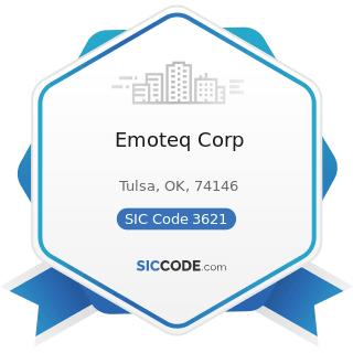 Emoteq Corp - SIC Code 3621 - Motors and Generators