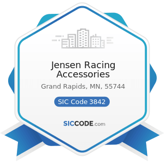 Jensen Racing Accessories - SIC Code 3842 - Orthopedic, Prosthetic, and Surgical Appliances and...