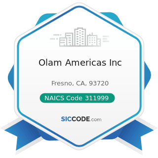 Olam Americas Inc - NAICS Code 311999 - All Other Miscellaneous Food Manufacturing