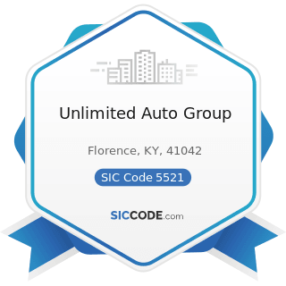 Unlimited Auto Group - SIC Code 5521 - Motor Vehicle Dealers (Used Only)