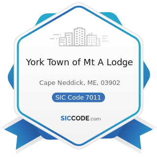 York Town of Mt A Lodge - SIC Code 7011 - Hotels and Motels