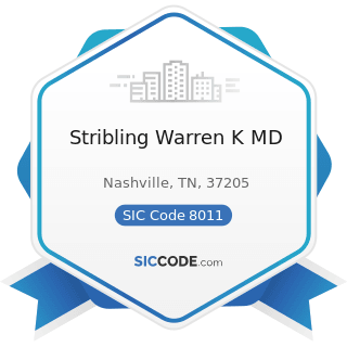 Stribling Warren K MD - SIC Code 8011 - Offices and Clinics of Doctors of Medicine