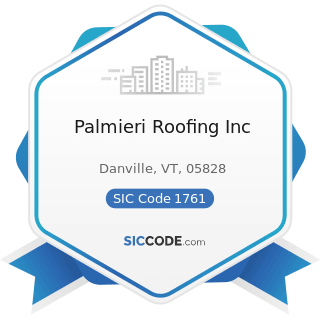 Palmieri Roofing Inc - SIC Code 1761 - Roofing, Siding, and Sheet Metal Work