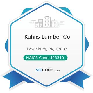 Kuhns Lumber Co - NAICS Code 423310 - Lumber, Plywood, Millwork, and Wood Panel Merchant...