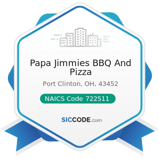 Papa Jimmies BBQ And Pizza - NAICS Code 722511 - Full-Service Restaurants
