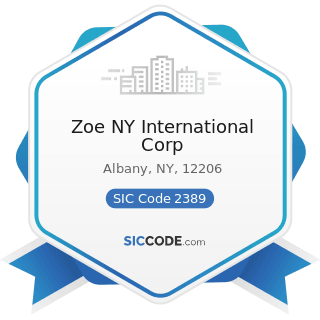 Zoe NY International Corp - SIC Code 2389 - Apparel and Accessories, Not Elsewhere Classified