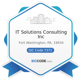 IT Solutions Consulting Inc - SIC Code 7371 - Computer Programming Services