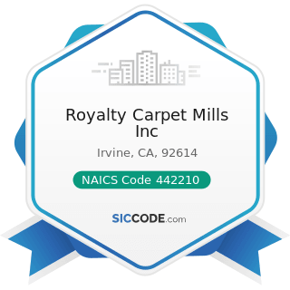 Royalty Carpet Mills Inc - NAICS Code 442210 - Floor Covering Stores
