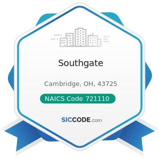 Southgate - NAICS Code 721110 - Hotels (except Casino Hotels) and Motels