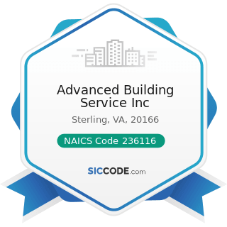 Advanced Building Service Inc - NAICS Code 236116 - New Multifamily Housing Construction (except...