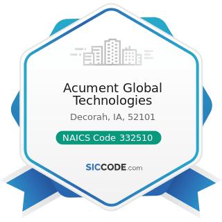 Acument Global Technologies - NAICS Code 332510 - Hardware Manufacturing
