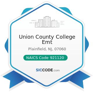 Union County College Emt - NAICS Code 921120 - Legislative Bodies