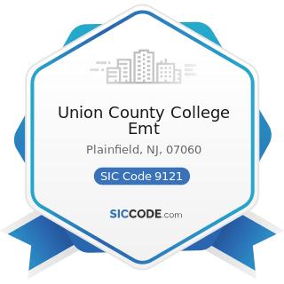 Union County College Emt - SIC Code 9121 - Legislative Bodies