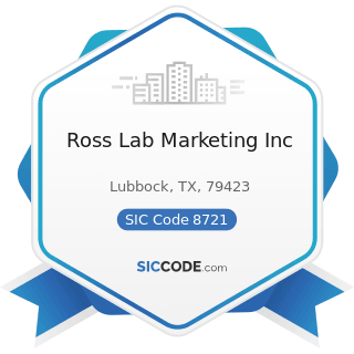Ross Lab Marketing Inc - SIC Code 8721 - Accounting, Auditing, and Bookkeeping Services