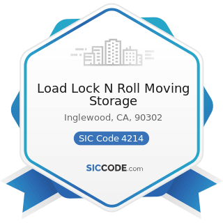 Load Lock N Roll Moving Storage - SIC Code 4214 - Local Trucking with Storage