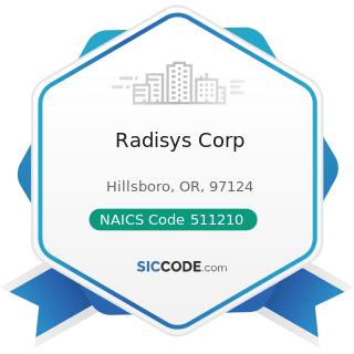 Radisys Corp - NAICS Code 511210 - Software Publishers