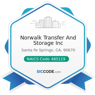 Norwalk Transfer And Storage Inc - NAICS Code 485119 - Other Urban Transit Systems