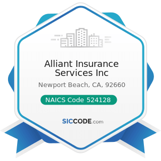 Alliant Insurance Services Inc - NAICS Code 524128 - Other Direct Insurance (except Life,...
