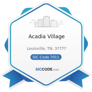 Acadia Village - SIC Code 7011 - Hotels and Motels