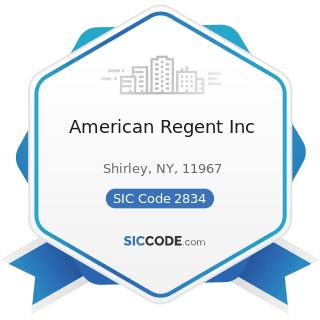 American Regent Inc - SIC Code 2834 - Pharmaceutical Preparations