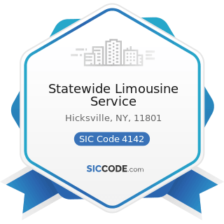Statewide Limousine Service - SIC Code 4142 - Bus Charter Service, except Local