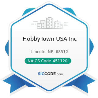 HobbyTown USA Inc - NAICS Code 451120 - Hobby, Toy, and Game Stores