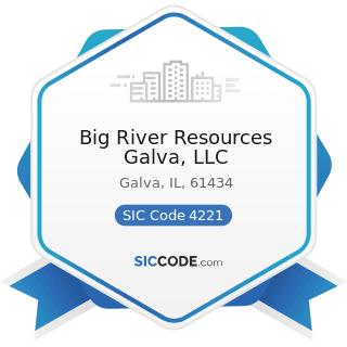Big River Resources Galva, LLC - SIC Code 4221 - Farm Product Warehousing and Storage