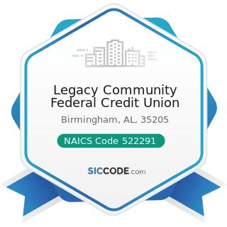 Legacy Community Federal Credit Union - NAICS Code 522291 - Consumer Lending